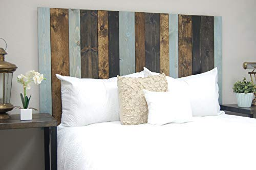 All Terrain Mix Headboard California King Size, Hanger Style, Handcrafted. Mounts on Wall. Easy Installation.