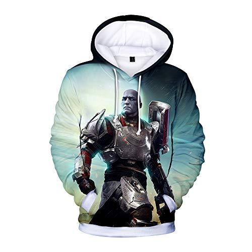 Destiny 2 Mantel Kapuzenpullover Game Printing Beiläufiges Sweatshirt Unisex Kapuzenpullover (Color : A02, Size : L)