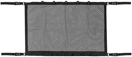Bolsa de almacenamiento de techo de automóvil Rodilla de pesca de coches Bolsa de neta de neta de neta de techo ajustable Pocket Suv Camión Sundries de almacenamiento Netting (Color: Negro) Accesorios