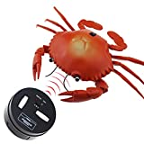 Tipmant RC Crab Animal Toy Radio Remote Control Car Vehicle Electronic Fake Insect for Kids Birthday Gift Christmas Halloween (Red)