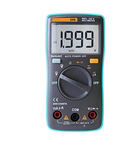 BEVANNJJ ZYY Multímetro Digital 6000 Cuentas de luz de Fondo AC/DC voltímetro del amperímetro Ohm portátil Medidor de Tensión 098/100/109/111, RM098