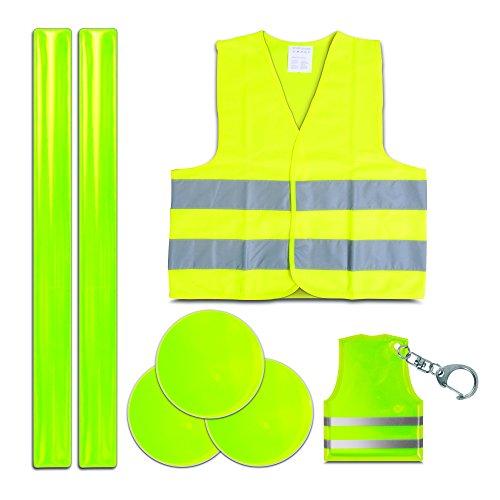 Style-A-Ride Kinder Reflecterende Jacket/Sleutelhanger/Snap Bands Veiligheidsset
