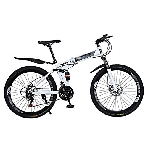 Bicicleta De MontañA Plegable,Bicicleta De Ciudad,MúLtiples Opciones De Modo De Velocidad,Ruedas De Radios De 26 Pulgadas,Adecuado Para Hombres/Mujeres/Adolescentes,Varios Colores