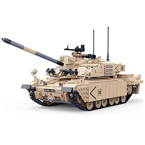 TOPD 1467pcs 1/18 Juego de construcción de Tanques Militares, Kit de Modelo de construcción de Tanques Militares, Bloque de manutención de Tanques del ejército e inserción de Juguetes de cumpleaños y