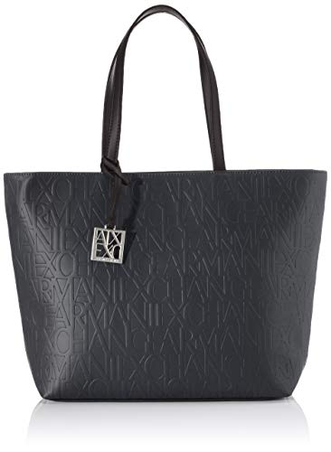 Armani Exchange Liz Open Medium - Bolso de compra, color Negro, talla 28x11x40 cm (B x H x T)