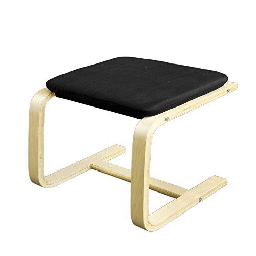 SoBuy® Hocker, Fußhocker zum Abstützen der Füße, Fußablage für Relaxsessel, schwarz, FST38-SCH
