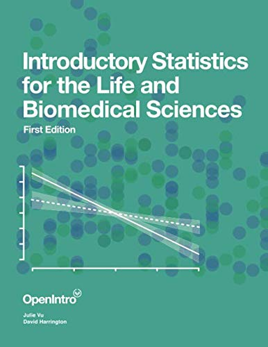 Compare Textbook Prices for Introductory Statistics for the Life and Biomedical Sciences  ISBN 9781943450121 by Vu, Julie,Harrington, David