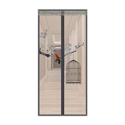 WLD Zomer Muggengaas Magnetisch scherm deur 39x83 inch, vliegengaas voor deuren, magnetische vliegengaas deur muggennet met magneet, klamboe voor deurgordijnen, insecten buiten houden