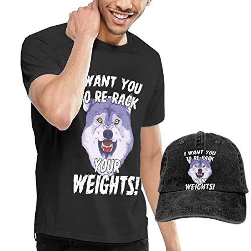 YNICKO I Want You to Rerock Your Weights 1 Tshirt Short Sleeve Denim Hat Men
