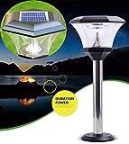 Dxyap Pfostenlichter für den Außenbereich Solarleuchte Gartenleuchte, LED Solar Globe Licht...