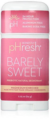 Honestly pHresh Baking Soda Free Deodorant, Barely Sweet