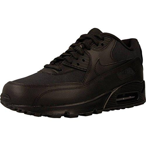 Nike Damen Air Max 90 Patent Schwarz Leder Sneaker