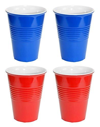 Assez Odd Novelties Plastique Rigide Cup, Rouge/Bleu, 4.3 x 4.3 x 5.39 cm