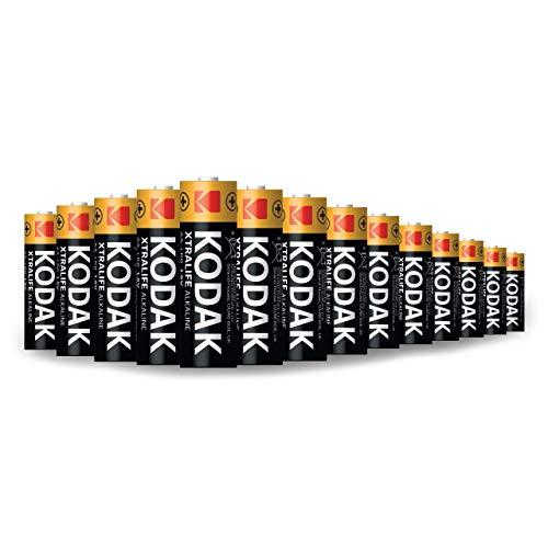 KODAK AA Batteries | LongLasting Performance Alkaline Batteries | 15v 10Year Shelf Life Bulk Pack – 60 AA