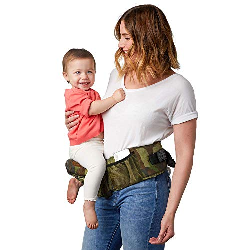Tushbaby The Only Safety Certified Hip Seat Baby Carrier - As Seen On Shark Tank, Ergonomic Waist Carrier for Newborns, Toddlers & Children, Camo