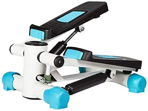 Equipo Gimnasio en casa Multifuncional Stepper Mini trajes de neopreno Azul Home Stepper Equipo deportivo y de fitness Pequeña máquina hidráulica de pasos Tamaño Portátil Cintura delgada 43 32 23 cm (