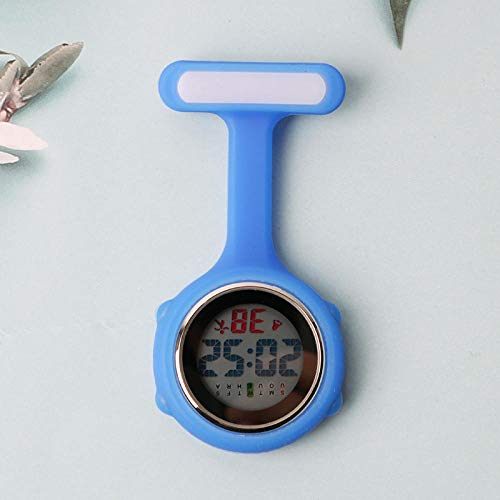 Cxypeng Uhren,Krankenschwester FOB,Elektronische Digitale leuchtende Krankenschwesteruhr Taschenuhr, wasserdicht medizinisch Wandkarten-blau,Pulsuhr Krankenschwester