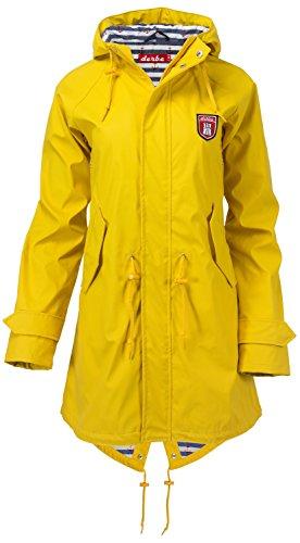derbe Damen Regenmantel, Farbe:gelb, Größe:56