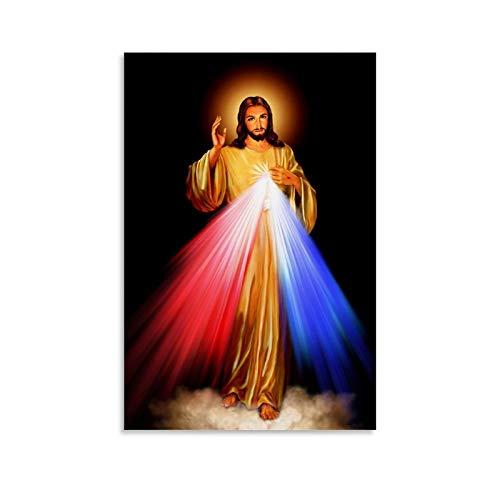 GHRF Sagrado - Póster de corazón de Jesús, cuadro decorativo en lienzo para pared, sala de estar, póster, dormitorio, pintura, 50 x 75 cm