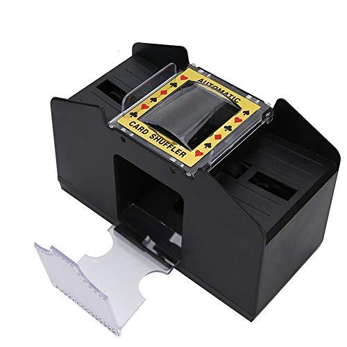 Cimenn Automatischer Kartenmischer, batteriebetriebene Spielkarten-Mischmaschine für 1 bis 4-Deck-Poker für Brettspiel-Pokerspielkarten