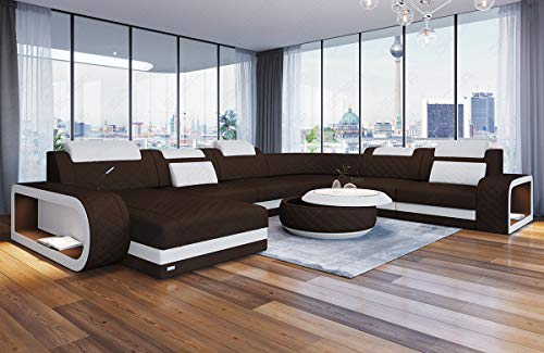 Sofa Dreams Moderne Polster Wohnlandschaft Berlin XXL mit Chesterfield Optik