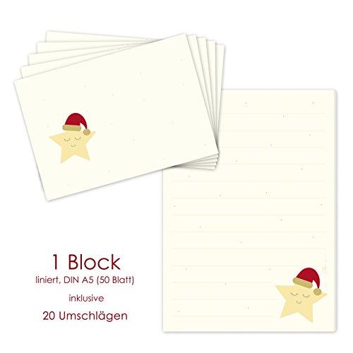 Briefpapier voor Kerstmis - schrijfblok/briefblok