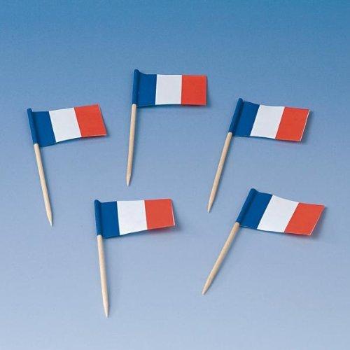 200 Flaggenpicker * FRANKREICH * // Party französische Farben Blau Weiß Rot Weltmeisterschaft Fussball Holzpicker Deko WM France