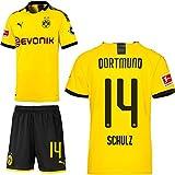 PUMA Borussia Dortmund BVB Heimset 2019 2020 Home Kit Trikot Shorts Kinder Nico Schulz 14 Gr 140