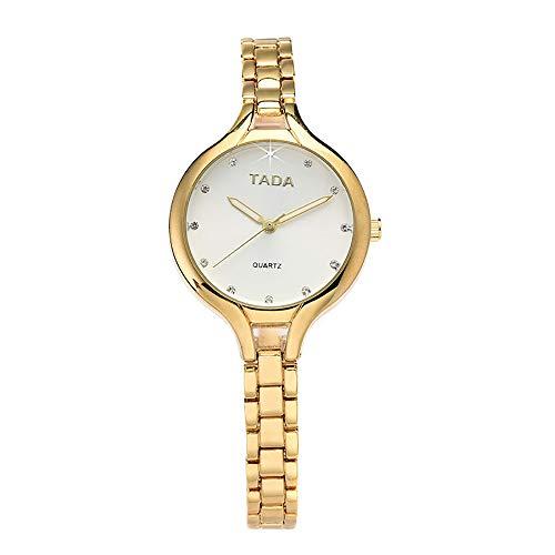 Darringls_Reloj TV6002 TADA,Reloje Hombres Mujer Reloj Deportivo niños Inoxidable para Hombres de Negocios Reloj de Pulsera analógico Deportivo de Acero