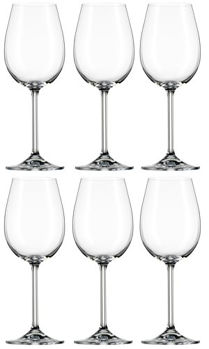 Bohemia Cristal 093 006 112 Weingläser ca. 320 ml aus Kristallglas 6er Set