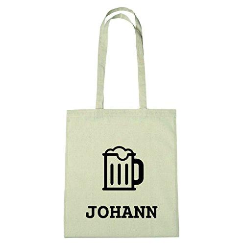 JOllify Baumwolltasche - Happy Birthday für JOHANN - Bier Gruß