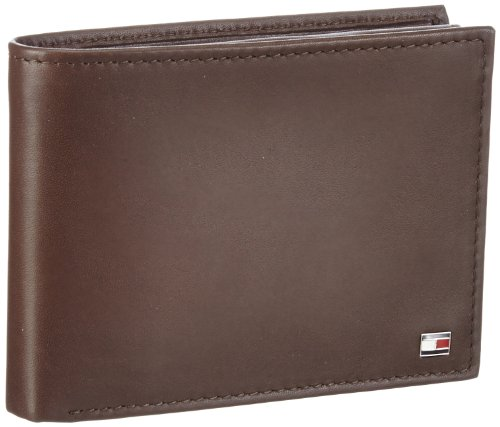 Tommy Hilfiger Herren ETON CC FLAP AND COIN POCKET Geldbörsen, Braun (BROWN 204), 14x10x3 cm