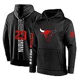 Sudadera con capucha para hombre, diseño de Chicago Bulls #23 Michael Jordan Baloncesto con capucha suelta, manga larga para hombre otoño Jersey con cuello alto