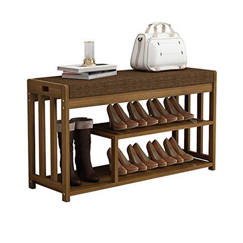 Hogar Mango zapatero Introducción del hogar caja de zapatos umbral del dormitorio habitación la puerta puede sentarse dormitorio espesa el cambio rápido del montaje sencillo y moderno banco de zapatos