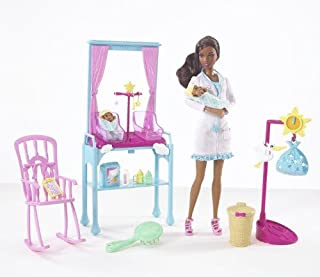 Barbie I Can Be... Newborn Baby Doctor African-American Doll Playset