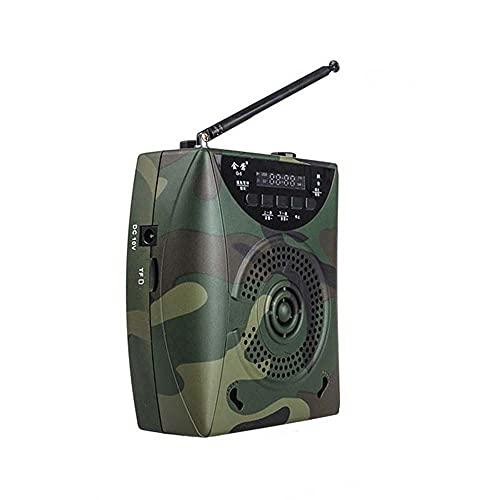 SKLLA Camuflaje Profesional 65w Altavoz Eléctrico De Señuelo, 2200 Mah Caza Al Aire Libre Trampa Digital para Pájaros Reproductor Mp3 con Control Remoto Inalámbrico