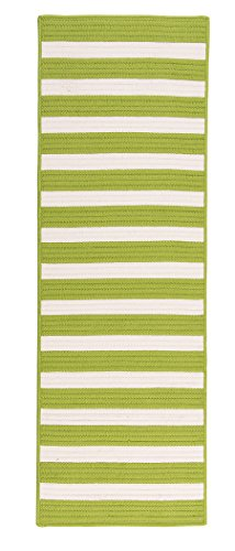 Stripe It Rug, 2 by 6-Feet, Bright Lime
