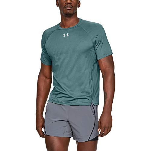 Under Armour UA Qualifier Camiseta, Hombre, Azul (Dust/Dust/Reflective 416), XL