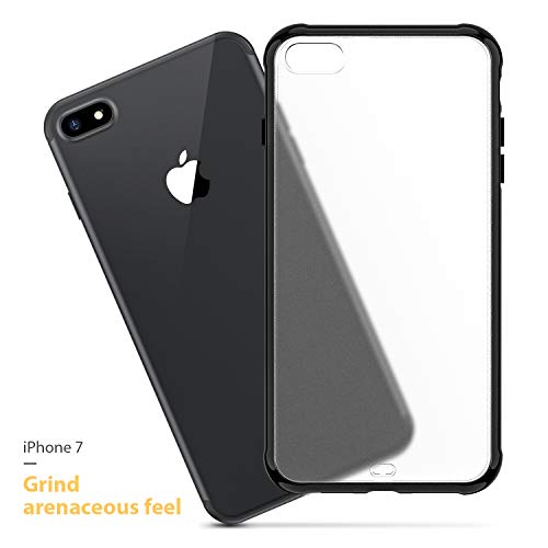 ORIbox Case for iPhone 7 / iPhone 8, Translucent Matte case with Soft Black Edges, Shockproof and Anti-Drop Protection Case Designed for iPhone iPhone 7 / iPhone 8 (iPhone 7/8/SE 2020 Case)