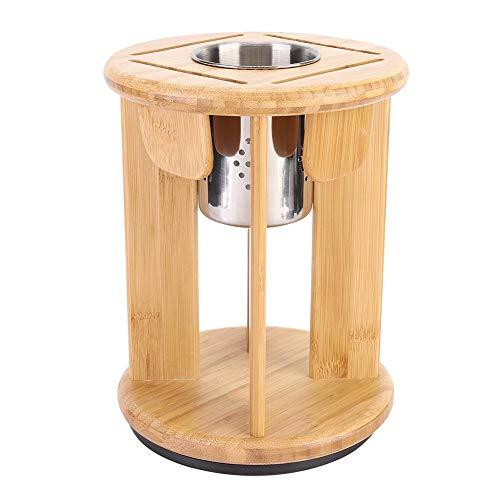 Emoshayoga Escurreplatos de madera, soporte para palillos de secado, multifunción, bambú, giratorio, diseño de cocina, para utensilios de cocina