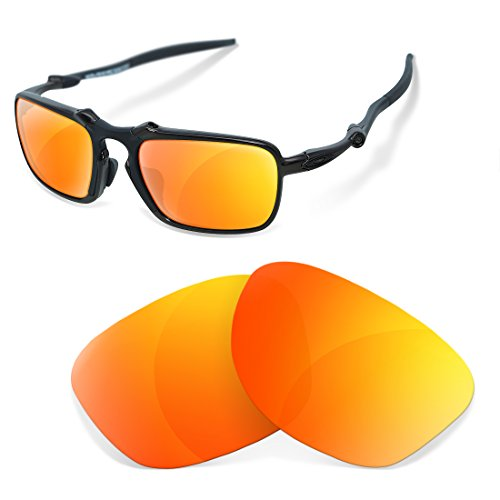 sunglasses restorer Kompatibel Erastzgläser für Oakley Badman , Polarisierte Fire Iridium