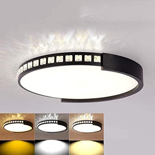 Luces de techo Dormitorio Sala de estar Iluminación Lámparas de techo de hierro europeo, LED moderno ajustable 3