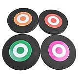 AMEYXGS Objetivo de Tiro con Arco EVA Dianas móvil Objetivo de Flecha Tablero de Espuma para Blanco Flecha para Tiro al Aire Libre Práctica de Tiro (2X Negro + 4X Papel)