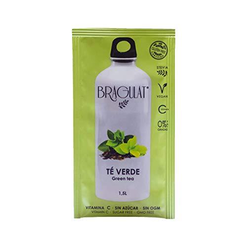 BRAGULAT | Te Verde | Bebidas y Refrescos Instantaneos en Polvo | Sin Azucar y con Vitamina C | Agua con Sabores | 15 Sobres