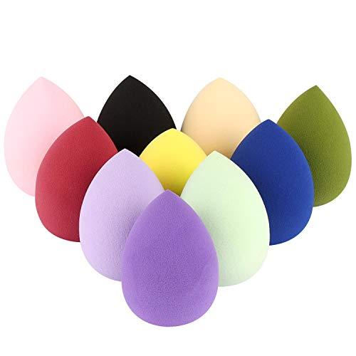 10 Packs Makeup Sponge Blender Egg Shaped Foundation Blending Sponge Multi Colored Beauty Sponge Set Flawless for Liquid Cream and Powder