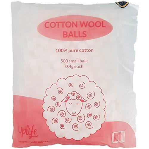 Uplife Wattebällchen, 500 Stück, fusselfrei, 100% reine Baumwolle, Kosmetik, Gesundheit, Schönheit