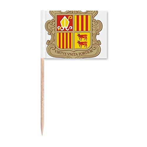 Andorra La Vella Andorra National Emblem Zahnstocher Flaggen Marker Topper Party Dekoration