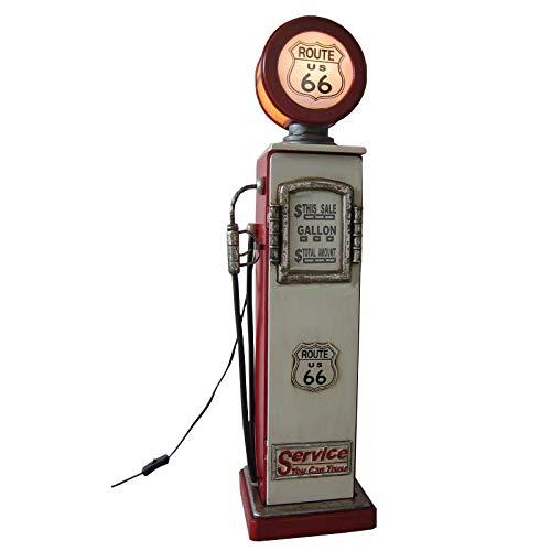 Pompa benzina retrò vintage CD DVD armadio Route 66 con illuminazione