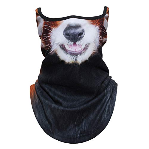 AXBXCX Animal 3D Prints Neck Gaiter Warmer Half Face Mask Scarf Windproof Dust UV Sun Protection for Skiing Snowboarding Snowmobile Halloween Cosplay Red Panda Funny