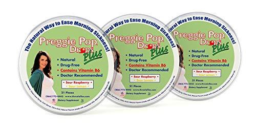 Preggie Pop Drops Plus | 3 Pack: 21 Drops Each | Vitamin B6 for...